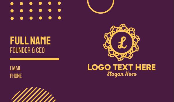 event management - Gold Elegant Lettermark Business card horizontal design