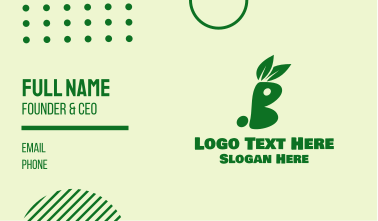 Green Healthy Bunny Business Card