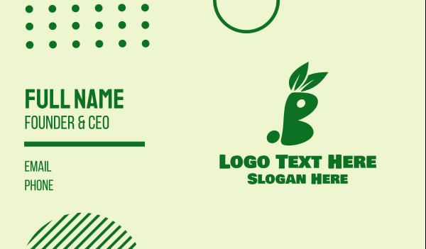 rabbit - Green Healthy Bunny Business card horizontal design