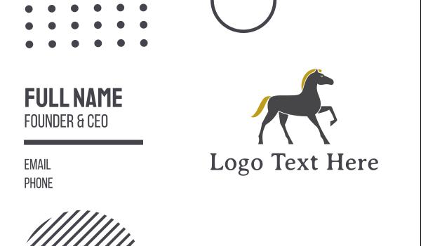 horse brand - Golden Mane Horse Business card horizontal design