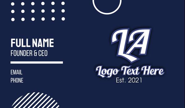 la - LA Los Angeles Business card horizontal design