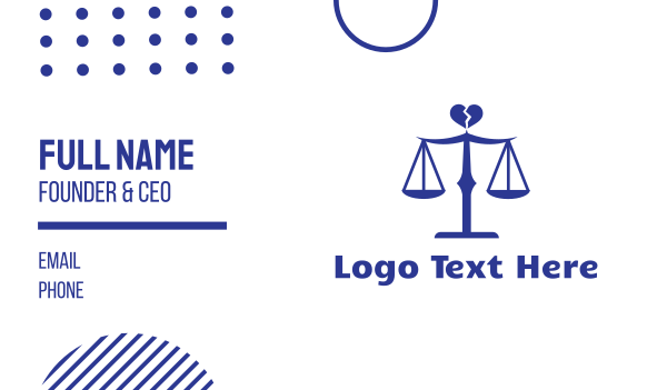 advocate - Divorce Lawyer Scales Business card horizontal design