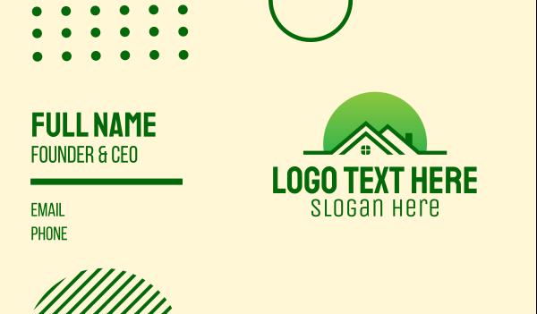 loft - Green House Realtor Business card horizontal design