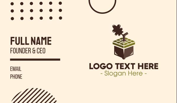 shipping service - Acorn Box Business card horizontal design