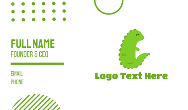 Green Baby Dragon Business Card