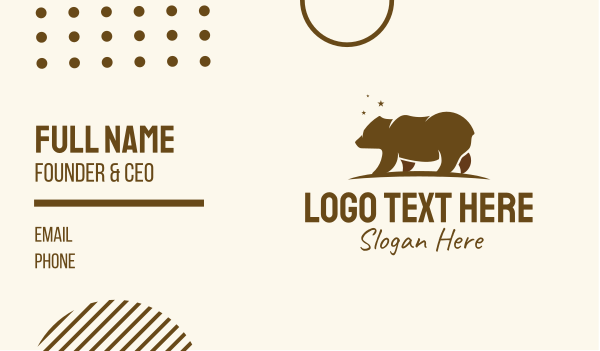 brown bear - Brown Bear Wilderness Business card horizontal design