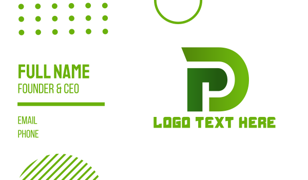 pd - Monogram PD Gaming Business card horizontal design