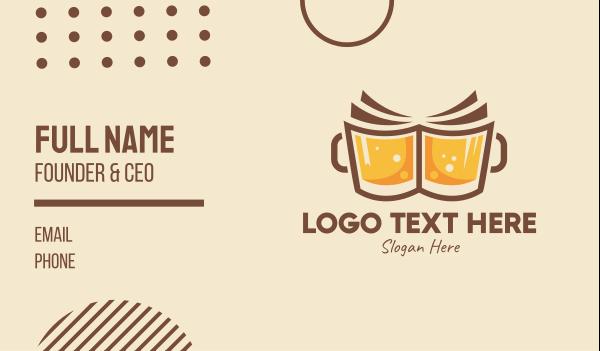 cheers - Beer Book  Business card horizontal design