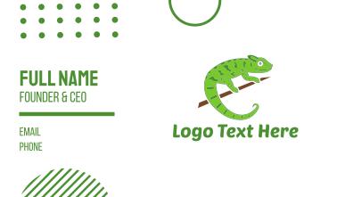 Green Chameleon Business Card