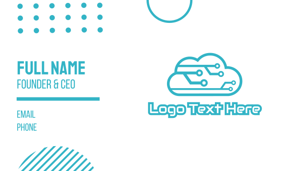 5g - Tech Cloud Business card horizontal design