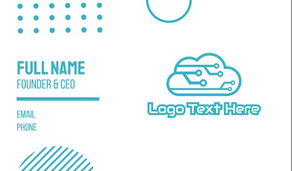 4g - Tech Cloud Business card horizontal design
