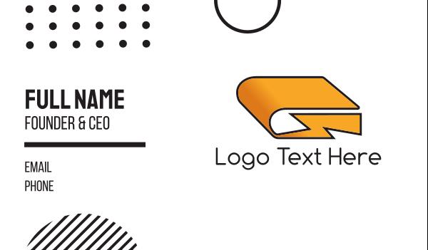 rapid - Flash Book Business card horizontal design