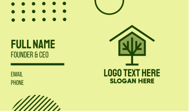 Green Tree House Business Card