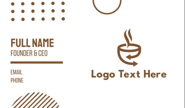 brown cup - Brown Coffee Arrow Business card horizontal design