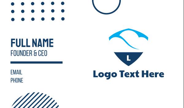 forecast - Cloud Shield Business card horizontal design