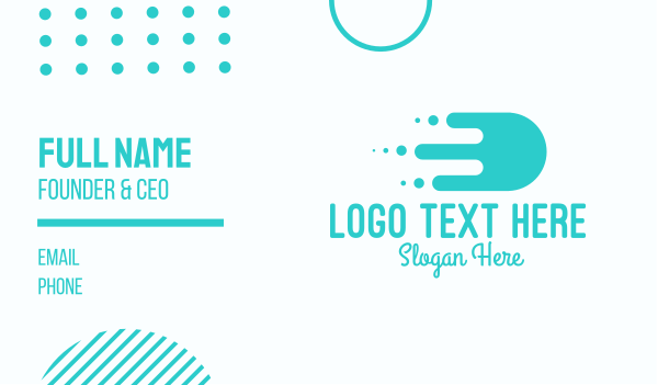 cargo delivery - Fast Slime Delivery Business card horizontal design