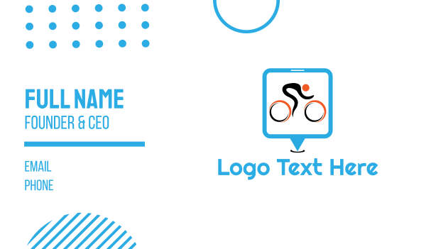 cyclist - Bike Race Business card horizontal design