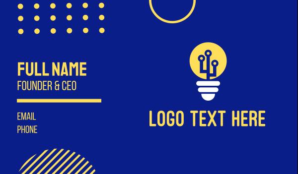 bulb - Electric Bulb Energy  Business card horizontal design