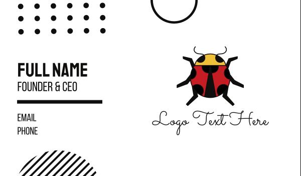 dot - Geometric Lady Bug Business card horizontal design
