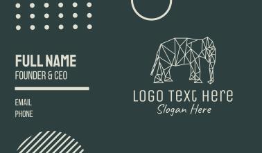 Minimal Elephant Business Card