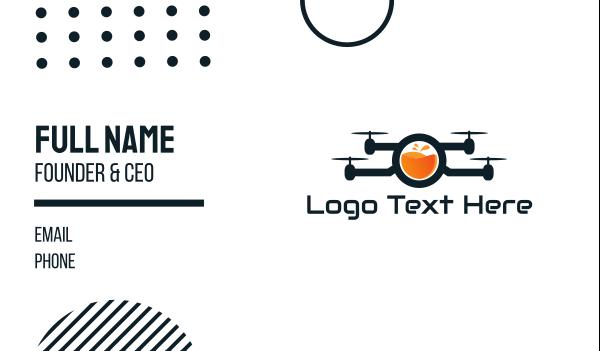 fluid - Juice Drone Business card horizontal design