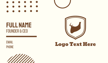 Beard Emblem Business Card