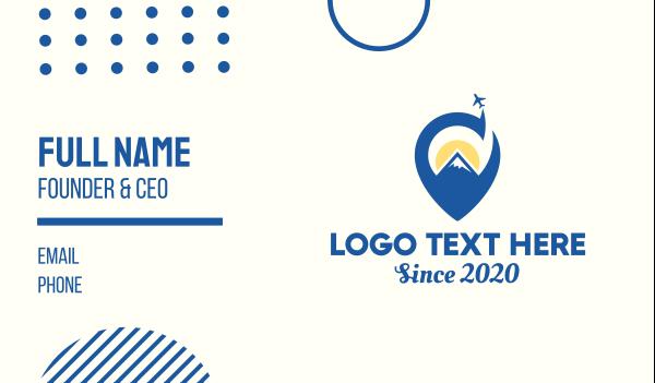 negative space - Mountain Travel Plane Business card horizontal design