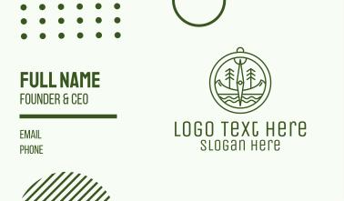 Green Compass Nature Outdoors Business Card