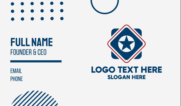 sporty - Sporty Star Diamond Business card horizontal design