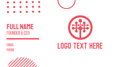 Tech Startup Tree Business Card