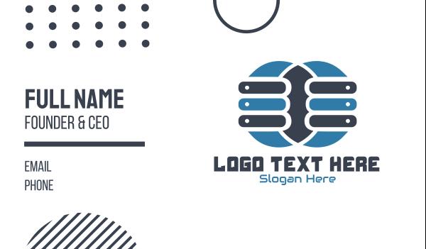 webhosting - Double Server Business card horizontal design