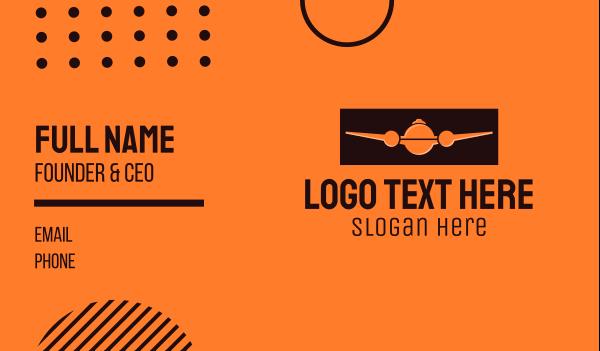 cloche - Orange Plane Cloche Business card horizontal design