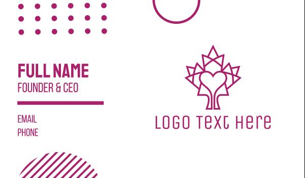 maple leaf - Mosaic Maple Leaf Heart Business card horizontal design