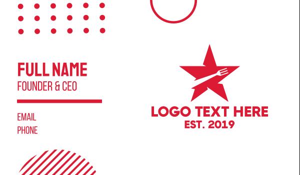 food app - Star Fork Business card horizontal design