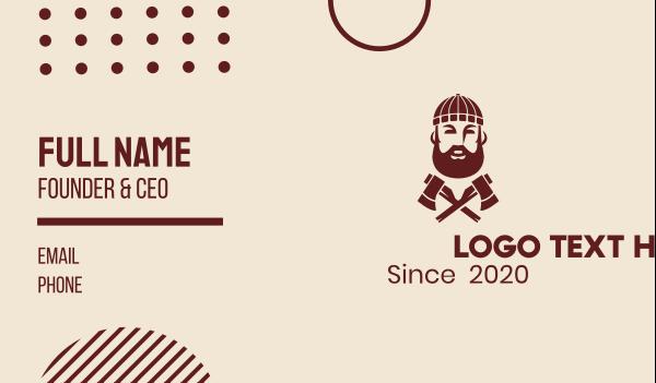 axe - Hipster Lumberjack  Business card horizontal design