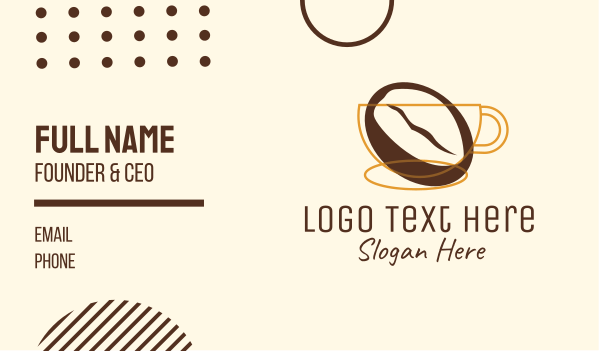 coffee bean - Coffee Brewery Business card horizontal design