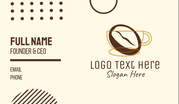 mocha - Coffee Brewery Business card horizontal design