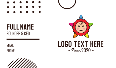 Star Baby Toy Business Card