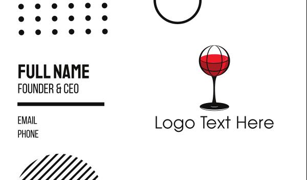 wine glass - Wine Atlas Business card horizontal design