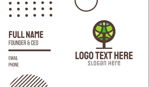 oak tree - Round Tree Business card horizontal design