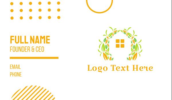sanctuary - House Garden Business card horizontal design
