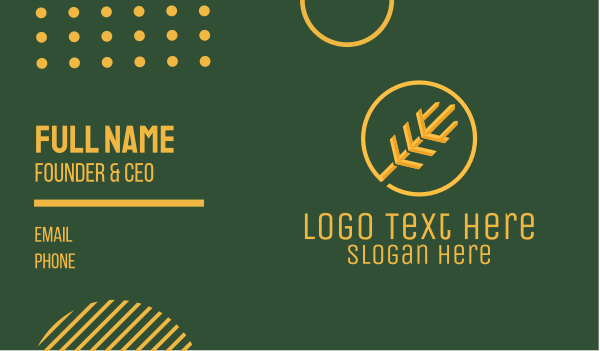 fields - Golden Wheat Stalk  Business card horizontal design