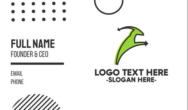 livestock - Green Goat Business card horizontal design