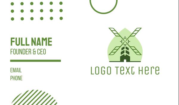 ranch - Organic Windmill Business card horizontal design