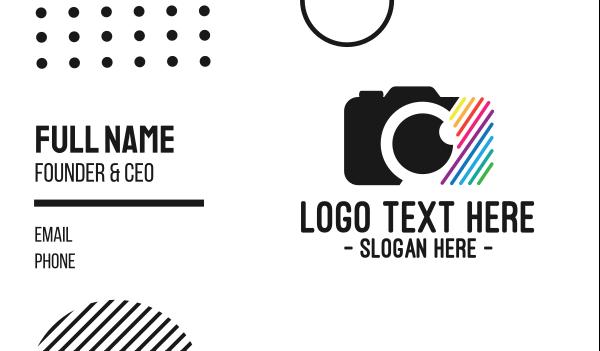 small business - Multicolor Optical Camera  Business card horizontal design