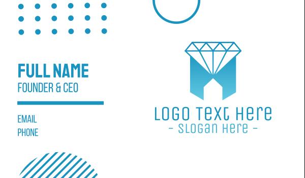 treasure - Geometric Jewelry House Business card horizontal design