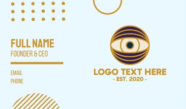 Creative Eye Globe Business Card