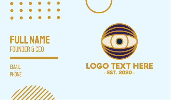 bohemian - Creative Eye Globe Business card horizontal design