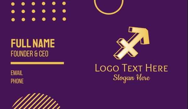 astronomical - Sagittarius Zodiac  Business card horizontal design
