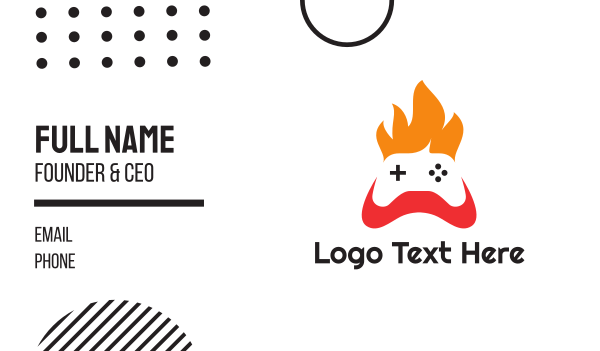 e sports - Fire Console Controller Business card horizontal design